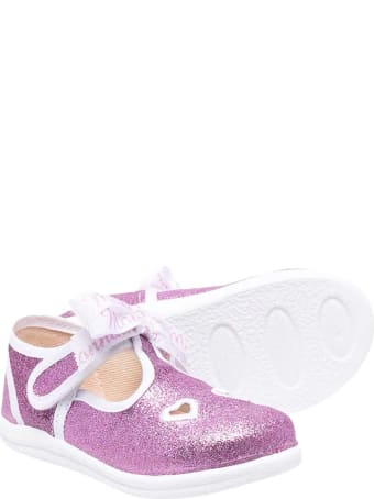 Monnalisa Glitter Wisteria Ballet Flats