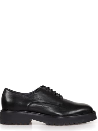 Doucal's Leather Derby With Rubber Sole