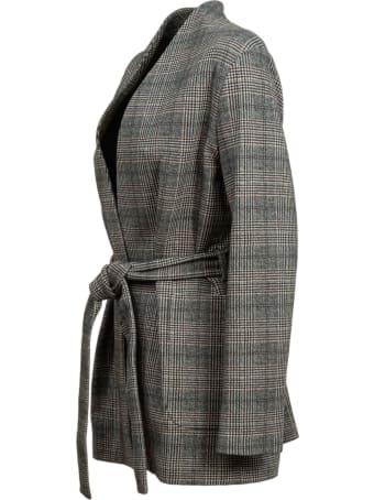 Circolo 1901 Circolo checked cotton jacket. Neck