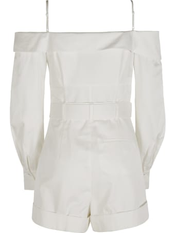 self-portrait Belted Waist Off-shoulder Playsuit