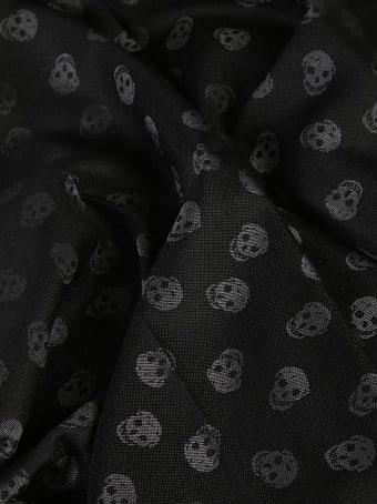 Alexander McQueen Wool Skull Scarf