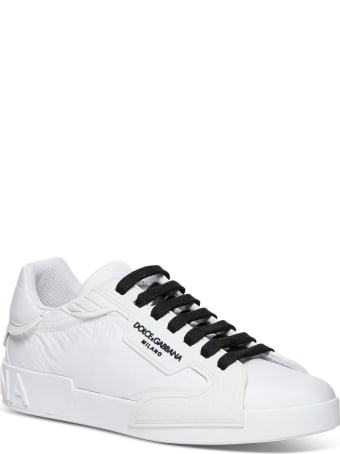 Dolce & Gabbana Portofino Sneakers In Nylon And Rubber With Logo