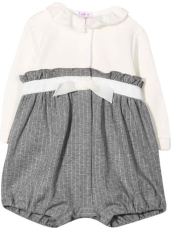 Il Gufo Pinstripe Jumpsuit With Print