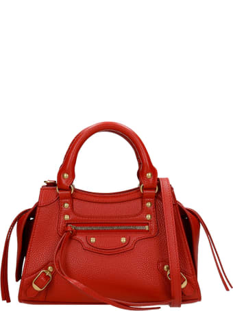 Balenciaga Neo Classic Hand Bag In Red Leather