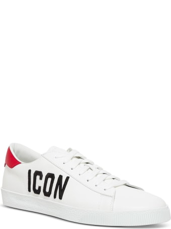 Dsquared2 Icon Sneakers In White Leather