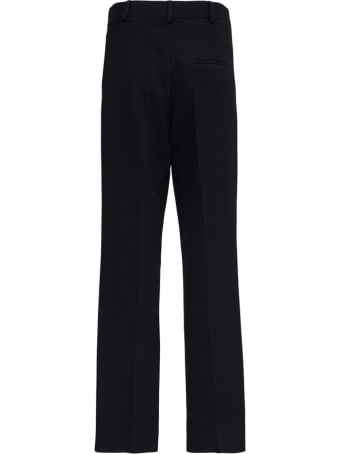 Casablanca Black Tailored Wool Trousers