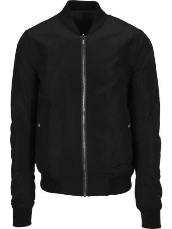 Rick Owens Black Reversible Bomber Jacket
