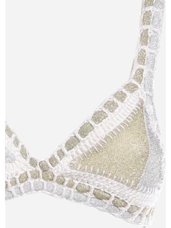 Margherita Mazzei Crochet Swimsuit With Lurex Inserts