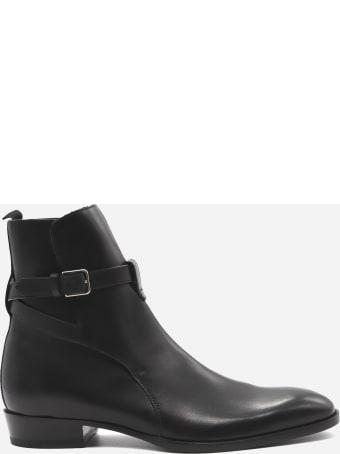 Saint Laurent Wyatt Jodhpur Leather Ankle Boots