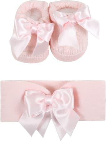 La Perla Pink Suit For Baby Girl