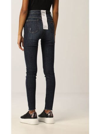 Armani Collezioni Armani Exchange Jeans High-waisted Stretch Used Denim Skinny Crop