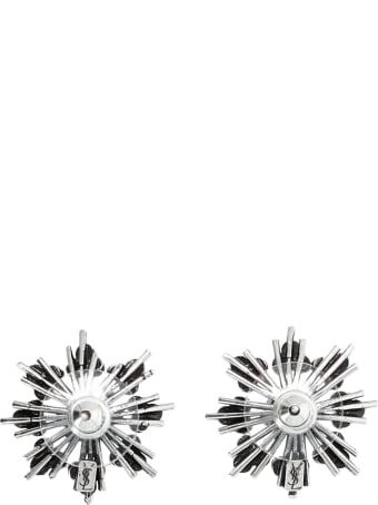 Saint Laurent Star Strass Earrings