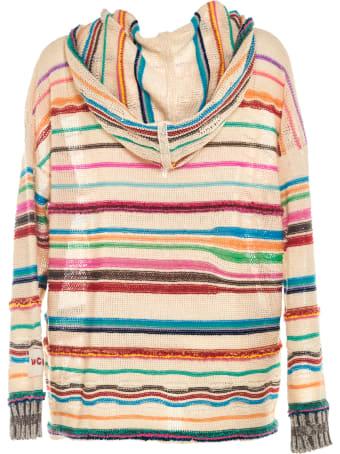 Longo Hoodie With Irregular Stripes
