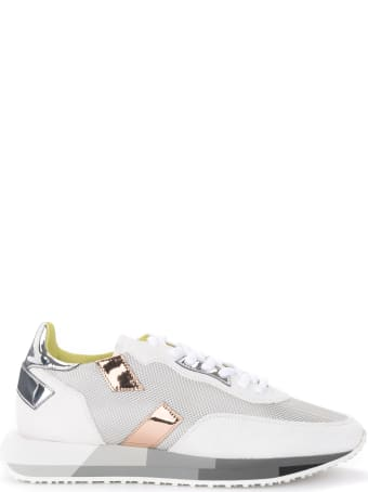 GHOUD Suede And Silver Fabric Rush Sneaker