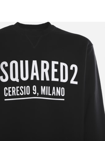 Dsquared2 Cotton Sweatshirt With Contrasting Logo Print