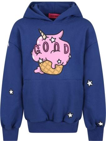 IRENEISGOOD Blue Sweatshirt For Girl With Ice Cream