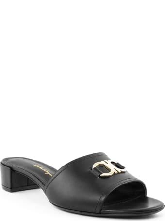Salvatore Ferragamo Clare Black Leather Sandal