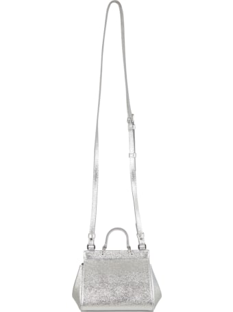 Dolce & Gabbana Silver Bag For Girl With Logo