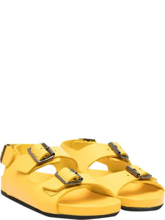 Gallucci Sandals With Yellow Buckle