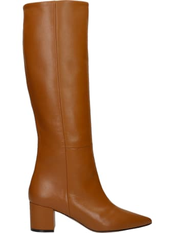 Marc Ellis Oregon High Heels Boots In Leather Color Leather