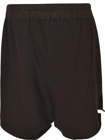 Rick Owens Drawstring Waist Distressed Shorts