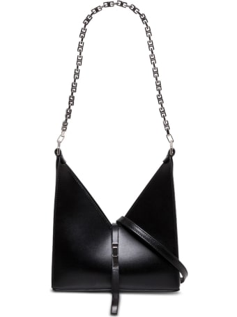 Givenchy Cut Out Crossbody Bag In Box Leather With Chain