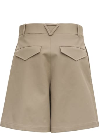 Bottega Veneta Beige Cotton Bermuda Shorts