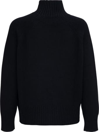 Allude Black Wool And Cashmere Sweater