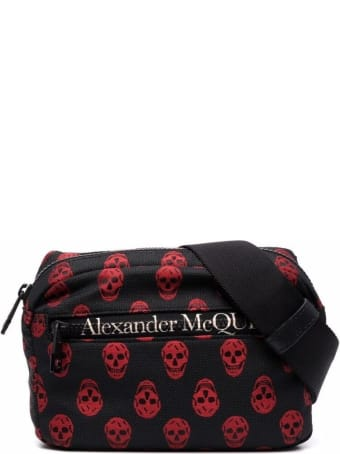 Alexander McQueen Biker Skull Urban Belt Bag In Nylon