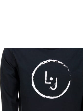 Liu-Jo Long-sleeved Crew Neck T-shirt With Logo Print