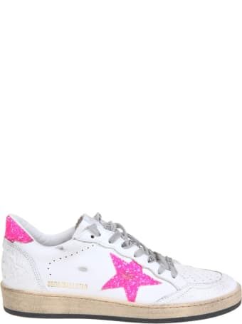Golden Goose Ballstar Sneakers In White Leather