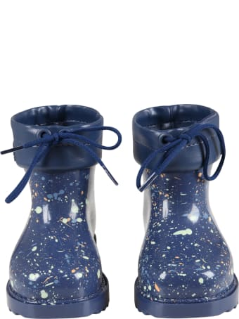 Melissa Blue Boots For Kids With Spots