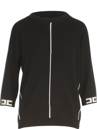Elisabetta Franchi Crew Neck 3/4s Sweater