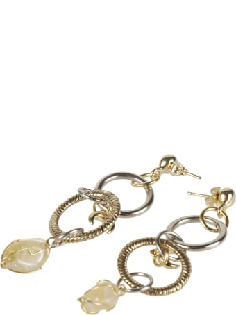 Marine Serre Twisted Ring Earrings