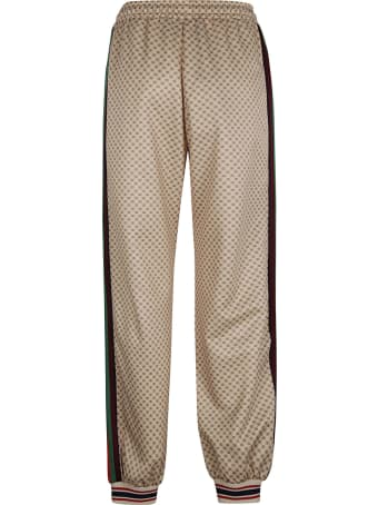 Gucci Web Stripe Side Logo Patched Track Pants