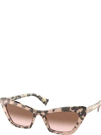 Miu Miu Miu Miu Mu 03xs Havana / Transparent Pink Sunglasses