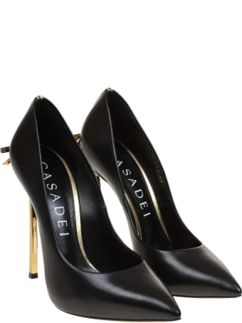 Casadei Decollete Blade Penny In Black Leather