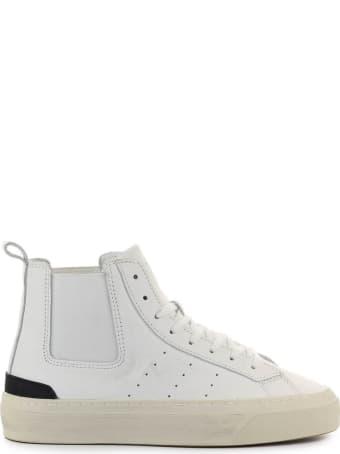 D.A.T.E. Sonica High Calf White Sneaker