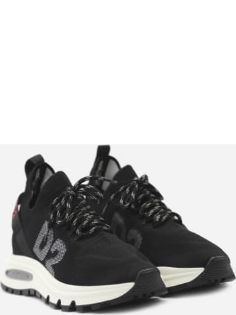 Dsquared2 Speedster Sneakers In Technical Fabric With Canadian Leaf Detail