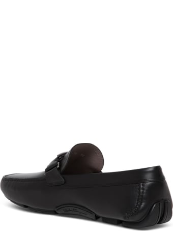 Salvatore Ferragamo Peter Driver Mocassins In Black Leather