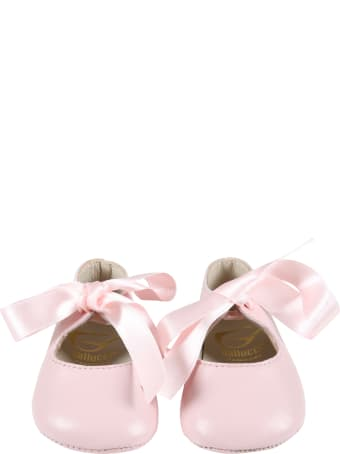 Gallucci Pink Ballet-flats For Baby Girl