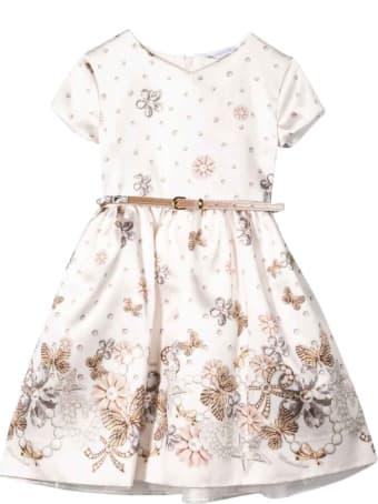 Monnalisa Girl Cream Dress