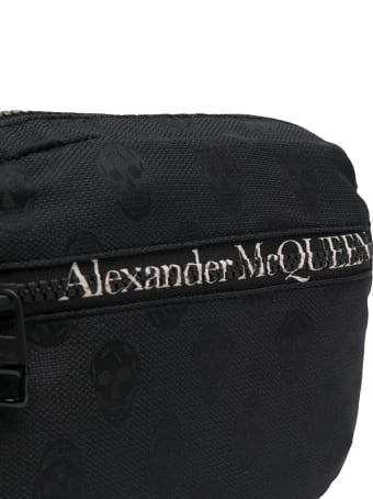 Alexander McQueen Man Black Biker Skull Urban Waist Bag