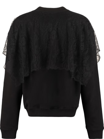 Givenchy Lace Ruffle Cotton Sweatshirt