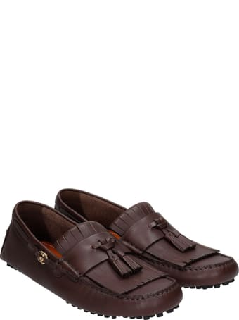 Gucci Loafers In Brown Leather