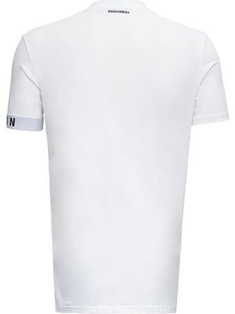 Dsquared2 White Cotton T-shirt With Logo