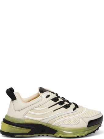 Givenchy Runner Gv1 Sneakers In Leather And Mesh