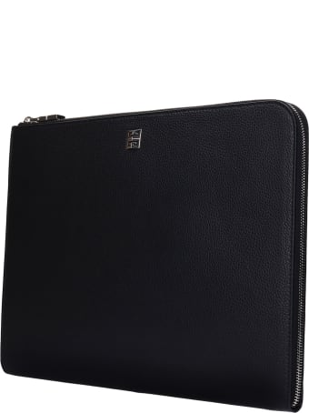 Givenchy Clutch In Black Leather