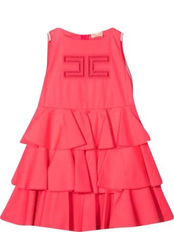 Elisabetta Franchi La Mia Bambina Dress With Elisabetta Franchi My Girl Logo