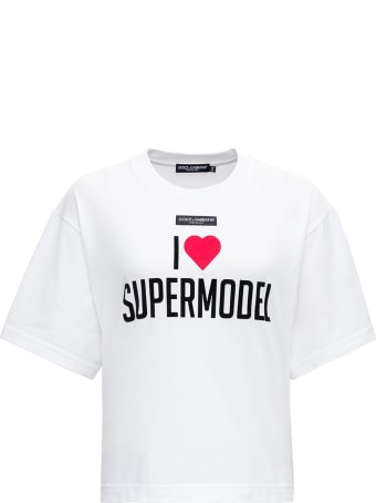 Dolce & Gabbana I Love Supermodel Printed Cotton T-shirt